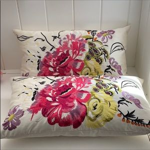 Pottery Barn Pillows embroidered